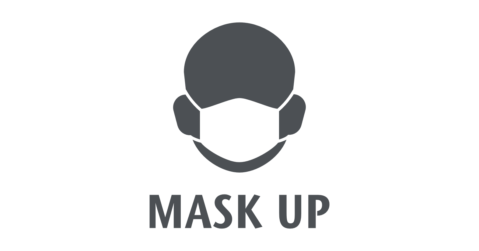 Icon showing person wearing mask