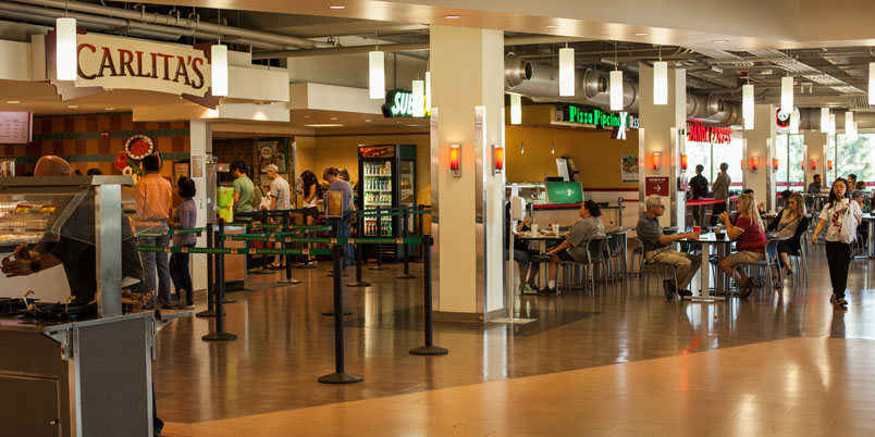 WSU's Food Court overseeing Carlita's, Subway, Pizza Pipeline and Panda Express