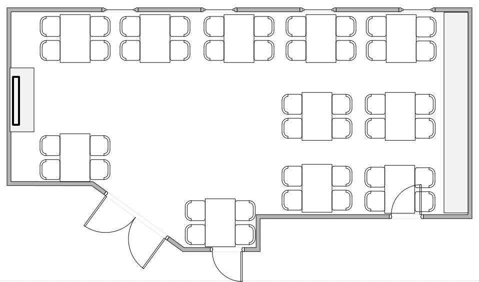 70F seating arrangement